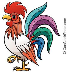 Rooster - Vector illustration of Cartoon Rooster