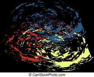 Abstract Primary Color Background