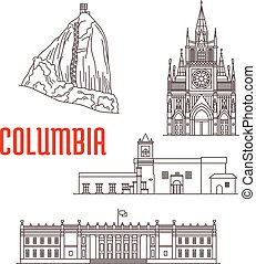 Tourist landmarks and architecture of Colombia - Colombia....