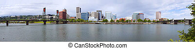 Portland Oregon Panorama. - A panorama of Portland Oregon...
