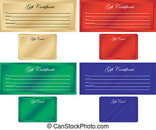 Set of 4 Gift Certificates