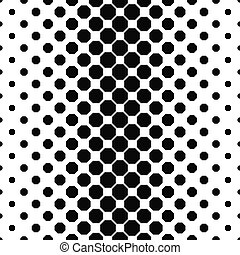 Abstract black white octagon pattern background