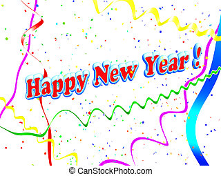 Holiday Happy New Year background from a serpentine and...