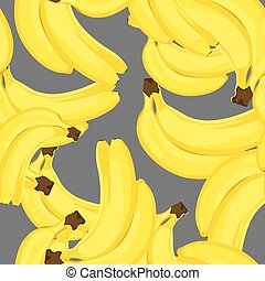 Sweet bananas on a black background