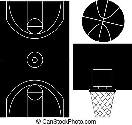 Basketball Silhouettes - Set of basketball silhouettes...