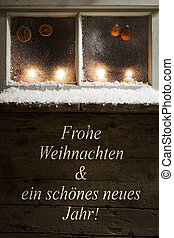 christmas decoration on a window - romantic christmas...