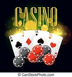 Casino poker vector poster design