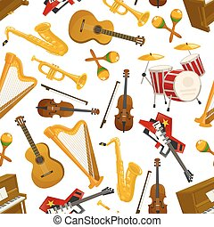 Music pattern of musical instruments