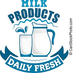 Milk daily fresh dairy sign