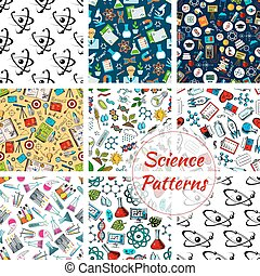 Science patterns of chemistry, medicine, astronomy - Science...