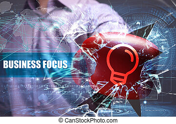 Business, Technology, Internet and network security. business focus
