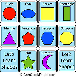 Set of Shape Flash Cards