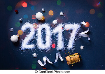 art 2017 Merry Christmas and happy New Years eve; Party background
