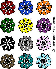Set of Abstract Flowers
