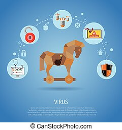 Cyber Crime Concept with Virus