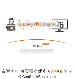 Cyber Crime Concept for Flyer, Poster, Web Site, Printing...