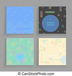 Geometry chaotic backgrounds set. Ready for covers,...