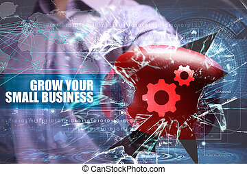 Business, Technology, Internet and network security. grow...