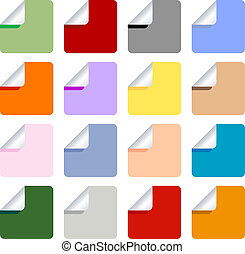 Set of Multi-Colored Stickers