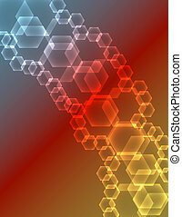 Abstract Glowing Hexagons Background