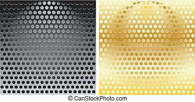 Set of Hexagonal Metal Grills
