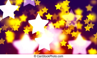 Falling colorful stars HD 1080 loop