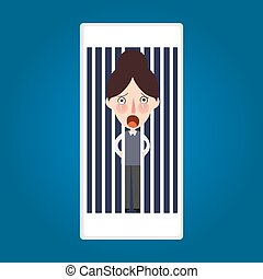 trapped inside phone jailed because mobile post activity...
