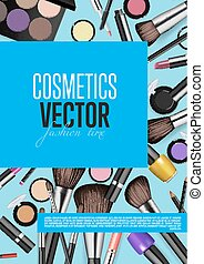Professional Fashion Makeup Realism Vector Banner -...