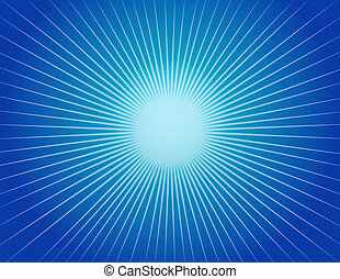 Abstract Blue Starburst Background