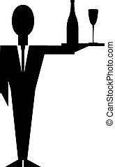 Silhouette of a Waiter