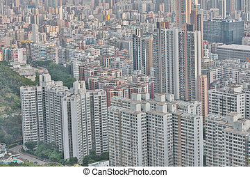 Skyline of the skyscrapers Eagle Nest hill - Vertical...
