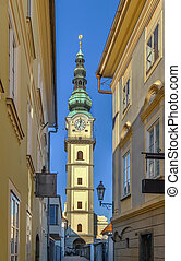 st. Egyd parish church, Klagenfurt, Austria - Tower of st....