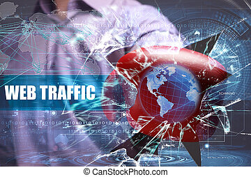 Business, Technology, Internet and network security. web traffic