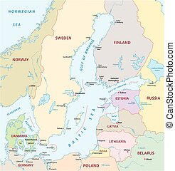 baltic sea map - baltic sea vector map