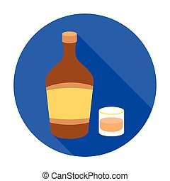 Liqueur icon in flat style isolated on white background. Alcohol symbol stock vector illustration.