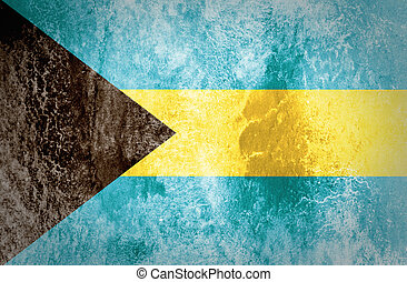Bahamas Flag on grunge paper