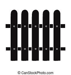 Fence icon in black style isolated on white background. Sawmill and timber symbol stock vector illustration.