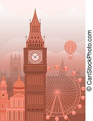 Vector illustration London - Vector illustration of London....