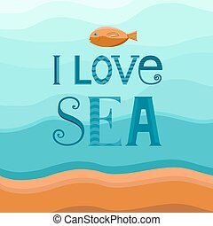 Sea background with fish.