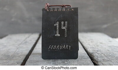 Happy Valentine's day, 14 February calendar