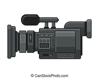 Professional Digital Video Camera Recorder Icon. Vector...
