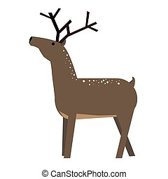 Cute cartoon deer. Vector Illustration isolated on...