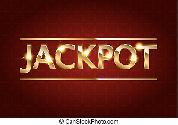Jackpot retro banner. - Jackpot retro banner with glowing...