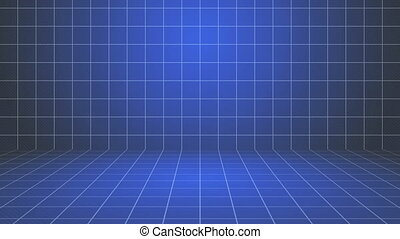 Blue Grid Stage Background.