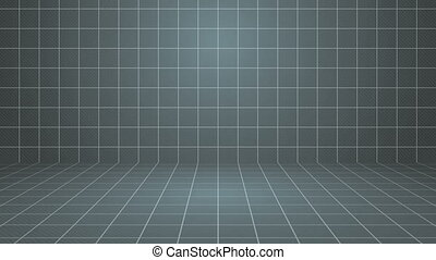 Gray Grid Stage Background.