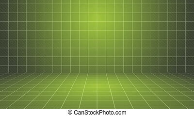 Green Grid Stage Background.