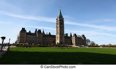 A timelapse view of Canada's Parliament - Timelapse view of...