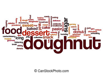 Doughnut word cloud concept