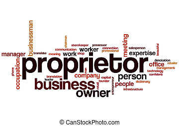 Proprietor word cloud concept
