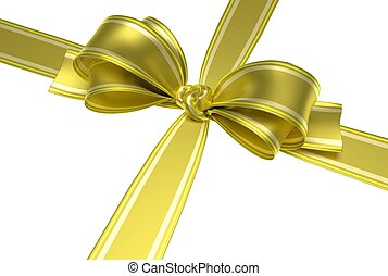 yellow ribbon and bow - Yellow ribbon and elegant bow with...